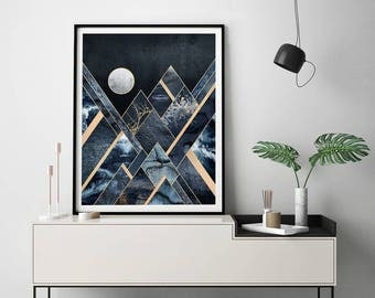 Stormy Mountains by Elisabeth Fredriksson Art Print