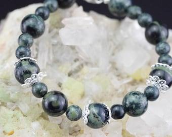 Bracelet beads Kambaba Jasper and Silver 925