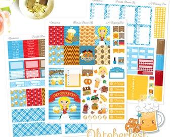 Oktoberfest - Printable Planner Stickers - Instant Download