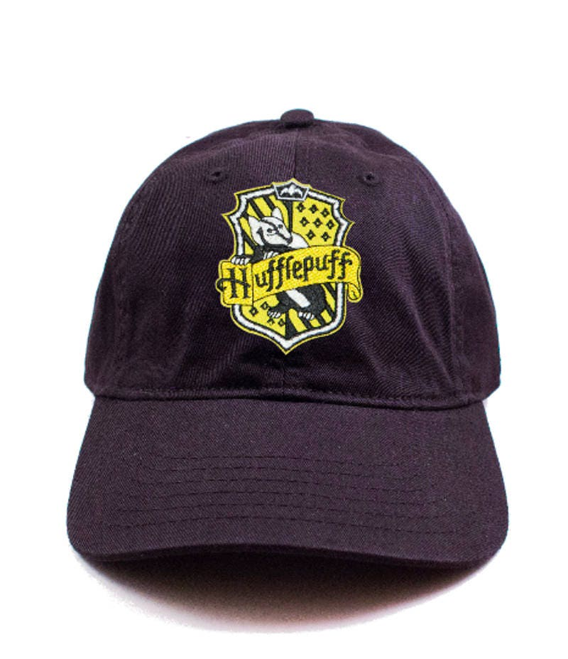d1c30ff3fdd Harry Potter Hufflepuff Crest Embroidered Patch Baseball Cap Hogwarts  Unisex Dad Hat Hufflepuff dad hat harry