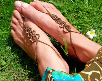 Barefoot sandals / foot jewelry
