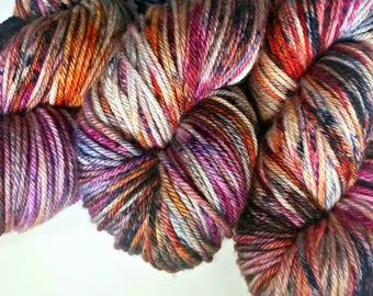 GOOD VIBES, Hand Dyed Worsted Yarn, Superwash Merino, Speckled Yarn, Variegated Yarn, Indie Dyed Yarn, Hand Dyed Yarn