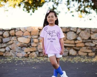 Kids Shark Shirt, Child shark shirt, customizable shirt, shark name shirt, toddler shark shirt, Sharktastic shirt, personalized shark shirt
