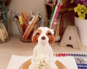 Wedding Cake Topper King Charles Cavalier