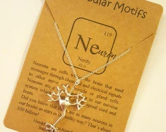 Neuron Cell Necklace-Multipolar Neuron Necklace-Tree of Life-Neurology Gift-Science Graduation Gift-Science Gift-Biology Gift