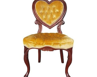 Velvet vanity chair | Etsy