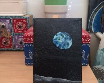 Earth Rise | Original Acrylic Painting | 12X15