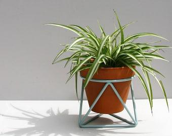 Mini Tri Plant Stand in Smoke Blue