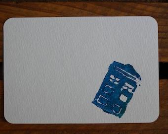 Dr. Who postcard greeting card TARDIS