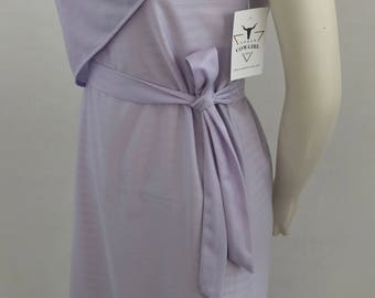Vintage Lucky Barbara Lavender Sheath Dress with Attached Flower and Sash/Size 10