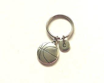 Basketball Themed Keyring, Basketball  Keychain, Gifts for Him, Personalized Keychain, Custom Keychain, Charm Keychain (38)