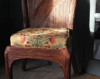 Set of Six Cane Woven Dining Chairs c.1980
