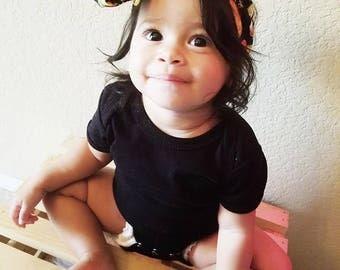 Matching Headbands- Taco Headband; Taco Bow; Taco Headwrap; Head Wrap; Big Bow Head Wrap; Toddler Headband; Baby Headband; Taco Hair Bow