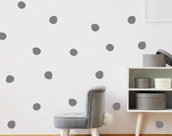 120 Irregular Polka Dot Wall Stickers
