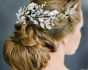 Bridal hair piece, Bridal head piece, Bridal hairpiece, Wedding hair piece, Wedding head piece, Wedding headpiece