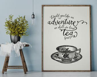 Teacup Quote Print, Teacup Print, Kitchen Printable, Inspirational Quote, Antique Teacup