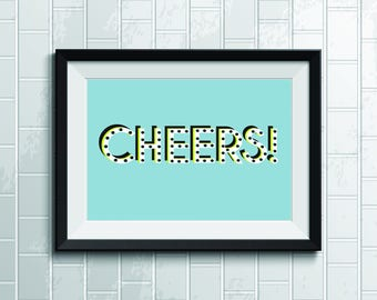 Blue Cheers Wall Poster
