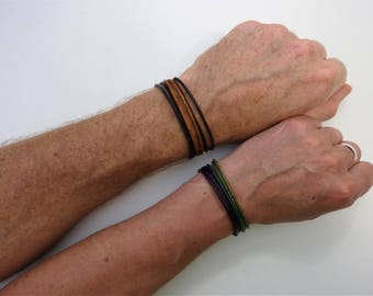 Leather bracelet men, couples bracelet, his and her bracelet, mens bracelet, gift for men, mens leather bracelet