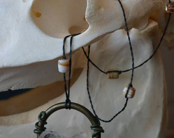 Quartz Cluster Hanging Forest Necklace