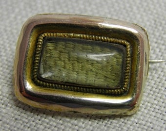 Very Early Victorian possibly Georgian Mourning Brooch