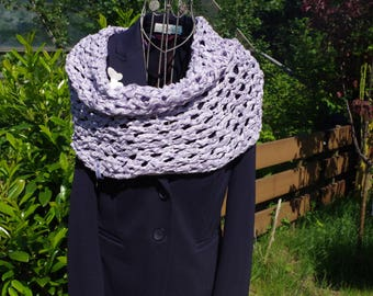 Cotton Summer loop in lilac