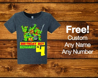 Sale! Ninja Turtles birthday shirt.