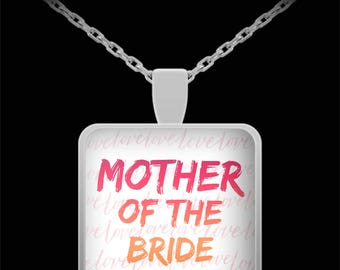 MOTHER Of The BRIDE! Lovely Necklace for Bride's Mom Wedding gift Engagement Bridal Jewelry Mother Gift