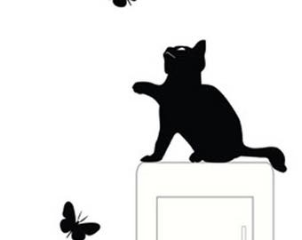 Cat switch stickers/ wall stickers/ home decoration/