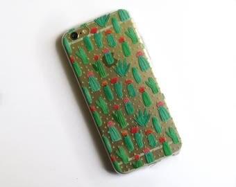 Transparent Cactus Case for iPhone  5 / 5S / SE / 6 / 6S