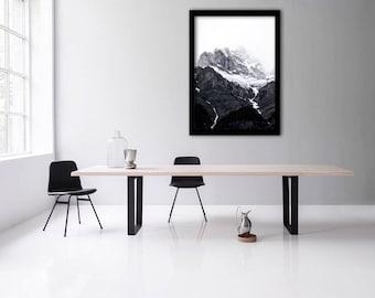 Mountain Print, Nature Photography, Landscape Print, Mountain Photography, Black-and-white, Scandinavian photo, Nature print, Landscape