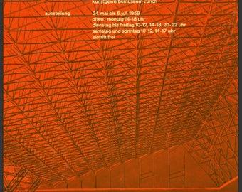 Bauhaus Mid-Century German Graphic Design Wall Art SWISS REDS Print Reproduction Bauhaus Architecture Retro 1960's Graphic Gift