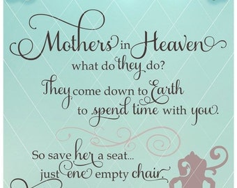 Mothers in Heaven, / In Memory Of / Sympathy Gift / Mother Svg / Mother Dxf / Mother Png