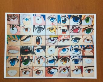 Anime Male Eyes PRINT