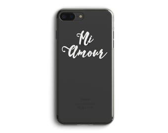Mi Amour.Gift for Wife.Husband.Valentine's Day phone case.iPhone X case.iPhone 8 case.iPhone 8 Plus case.iPhone 7 case.iPhone 7 Plus case.6+