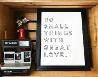 """Home Decor Digital Download """"Do Small Things With Great Love"""""""