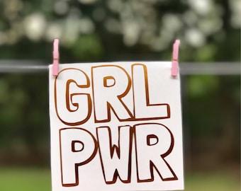 GRL PWR Decal