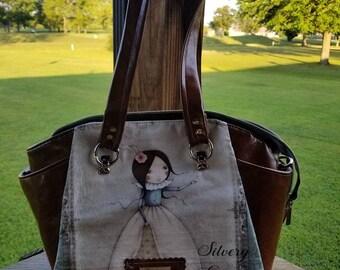 Satchel Handbag w/ crossbody strap