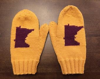 Hand Knit Merino Wool Minnesota Mittens