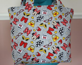 Gray Minnie Mouse Tote Bag