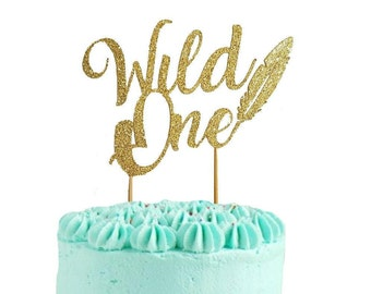 Wild One Cake Topper, Wild One Party Decoration, First Birthday Cake Topper, One Cake Topper, 1st Birthday Cake Topper, Tribal Cake Topper