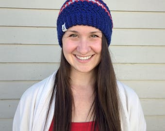 Goose Goose Beanie in Parisian Morning Colorway - Crochet Slouchy Hat