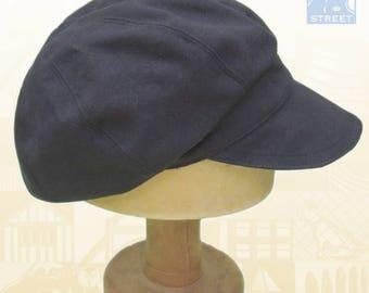 Black cotton newsboy cap slouchy boho hat baker boy cap