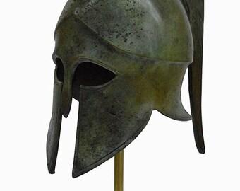 Corinthian Bronze helmet with Snake - Ancient Greece - Medium size
