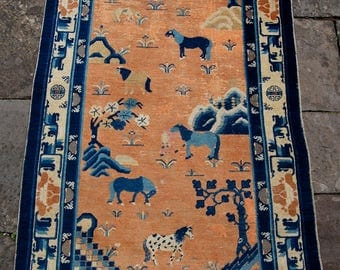 Early antique Chinese rug