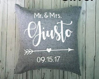 Mr. & Mrs. Pillow - Wedding Pillow - Personalized - Mrs. and Mrs. - Mr. and Mr.