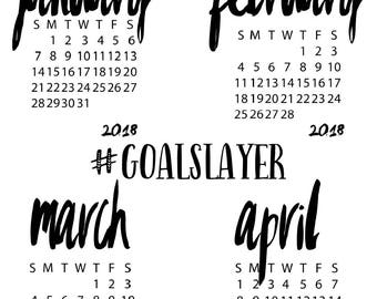 2018 GoalSlayer Tracking Sticker Sheet - Erin Condren | Happy Planner | Plum Paper Planner | Passion Planner | Recollections | Bujo | TN