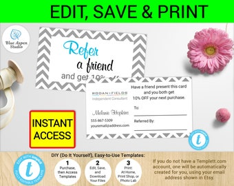 Rodan And Fields Referral Card | Coupon Cards | R+F Certificate | Printable  Rodan