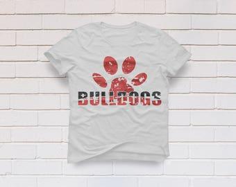 Bulldogs svg, Bulldog svg, Paw svg, Printable, Distressed, SVG Files, Cricut, Cameo, Cut file, Files, Clipart, Svg, DXF, Png, Pdf, Eps