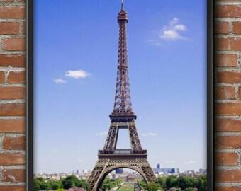 Art Print, Eiffel Tower, Printable Art, Wall Art, Eiffel Tower Art, Paris, France, Paris Wall Art, Wanderlust, Travel Souvenirs, Gift