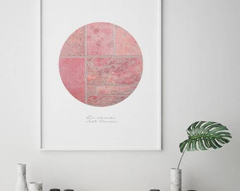 Circle Print, Circle Wall art, Scandinavian Print, Pink Print, Circle Poster, Geometric Art, Geometric Print, Minimal Print, Digital Print